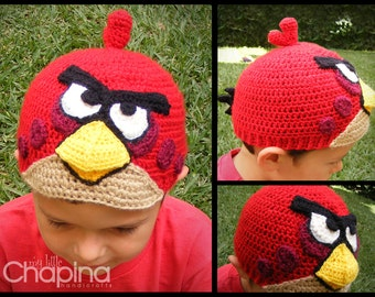 Angry Birds Crochet Beanie (Made to Order)