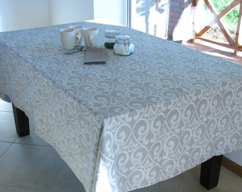 Linen Tablecloth / Damask