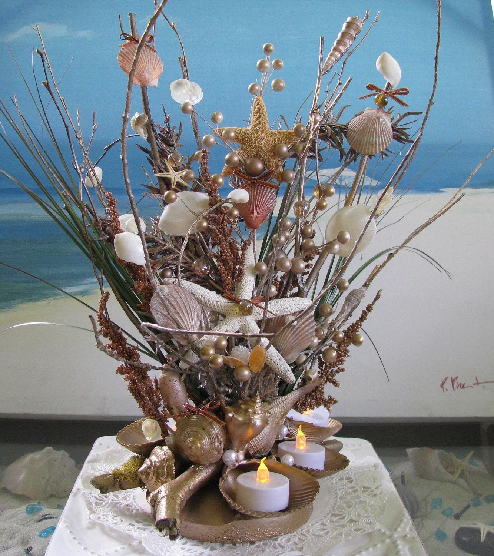 Seashell Centerpiece 20 In.Beach Wedding Seashell