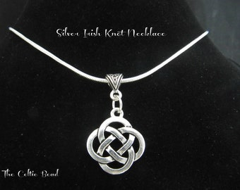 Silver Celtic Knot  Necklace