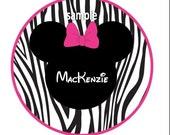 DIY- Minnie Mouse inspired zebra iron on transfer
