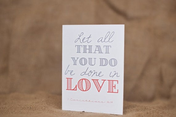 Greeting Cards (2 pack) - Let all that you do be done in love
