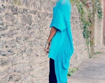 Shredded California Blue Shirt ~ slowshine