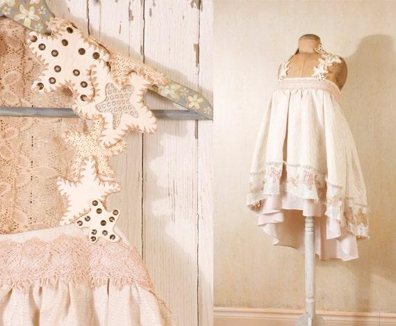 Bohemian wedding dress  Babydoll dress Beach wedding dress Bridal gown Short wedding dress Fairy dress RESERVED
