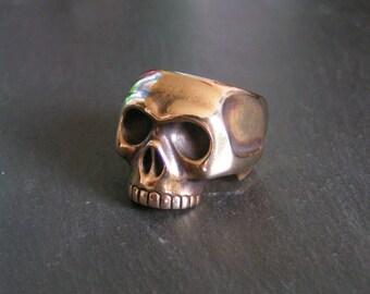 Bronze Memento Mori Skull Ring