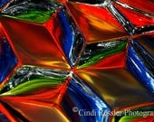 Tricubes, 5x7 Fine Art Photography, Color Reflections, Abstract Photography - CindiRessler