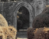 England Travel Photo - Old Gate Photograph - 8x10 Photo Print - Ancient Ruins - Gothic Art - Sepia Photo