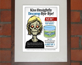 Zombie Beauty Product Magazine Advertisement Art Print