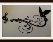 """paper cut silhouette paper cut original, size 8x11"""" black or white"""