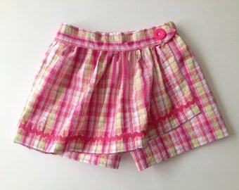 Twist & Shout - Girl's Skort Pattern PDF. Girl Sewing Pattern. PDF Skirt Pattern. Toddler Pattern. Sizes 1-10