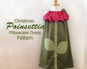 Sunny Flower Pillowcase Dress - Girl Christmas Dress Pattern PDF.  Kid's Children's Clothing.  Easy Sew Sizes 12m thru 10 included