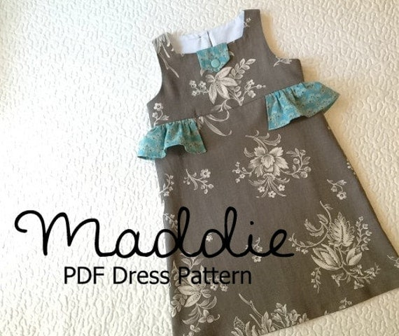 Maddie Girl\'s Ruffled Dress PDF Pattern. Girl Kid | Etsy