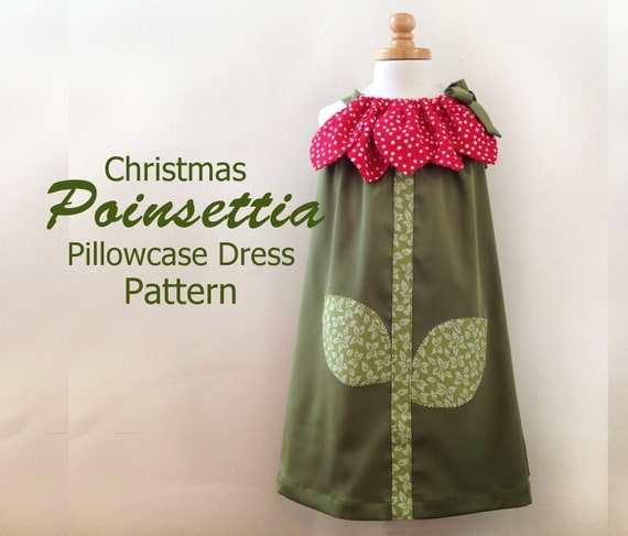 Sunny Flower Pillowcase Dress - Girl Christmas Dress Pattern PDF.  Kid's Children's Clothing.  Easy Sew Sizes 12m thru 10 included