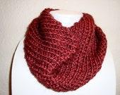 Dark Red Cowl Neck Warmer