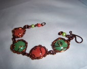 Mosaic Wire Wrap Mixed Colored Bracelet