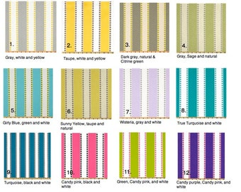 """Lulu Stripes - 2 pillow covers 16"""" or 18"""" you pick."""
