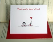 Listing reserved for Sherry - 24 x Thank you for being a friend - postcard