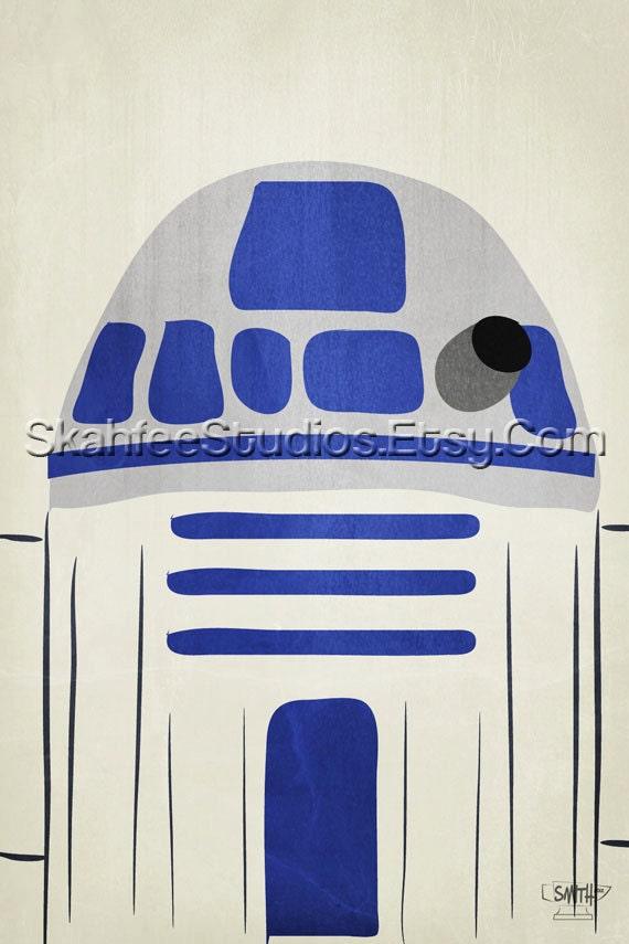 Minimalist Classroom History ~ R d star wars art print minimalist style by skahfeeportraits
