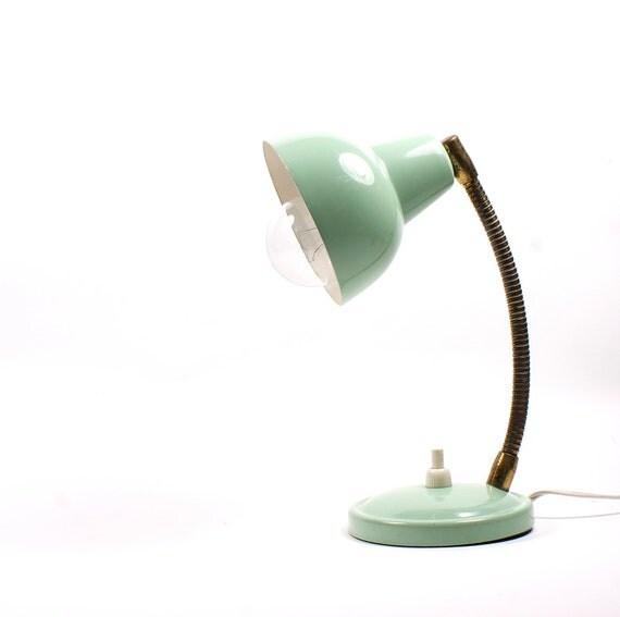 Vintage mint table lamp