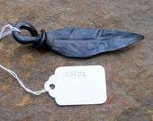 Hand forged leaf key ring