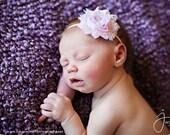 Pale Pink Shabby Chic Chiffon Headband- Baby  Headband,Toddler Headband, Newborn Headband