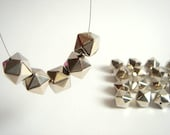 Faceted  Geometric  Beads, CCB acrylic Beads,  Geometric Jewelry,Do it Yourself Geometric necklace