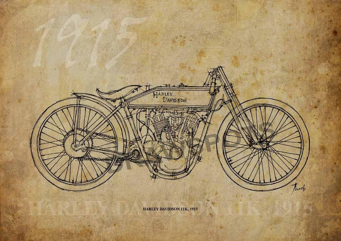 Harley Davidson 11k 1915 Based On My Original Handmade
