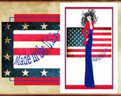 """Made in The U.S.A- fashion illustration-  5.5""""x8"""" greeting card"""
