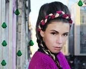 UTHA Tin, Straw & Mane headband,, Women's Fashion Hair Accessory, festival
