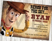 Disney Toy Story Woody the Cowboy Birthday Invitation