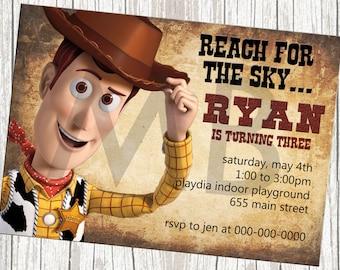 Disney Toy Story Woody the Cowboy Birthday Invitation