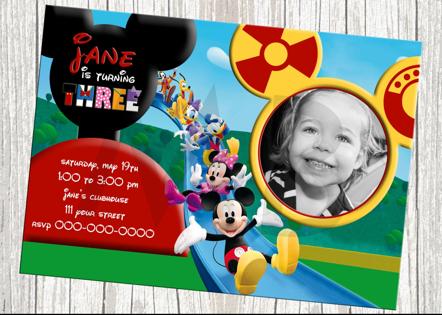 Mickey Mouse Clubhouse Birthday Invites as luxury invitations template