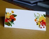 Citrus Flowers 12 Place / Name Cards for Weddings or Parties