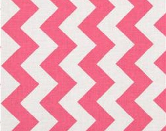 Chevron Table Runner in Hot Pink & White