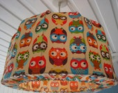 OwL Lampshade, Pendant light for kids room made in Retro Style
