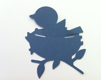 Chirping Nestled Blue Birdies