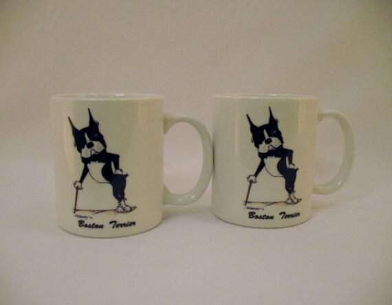 Boston Terrier Mug Set