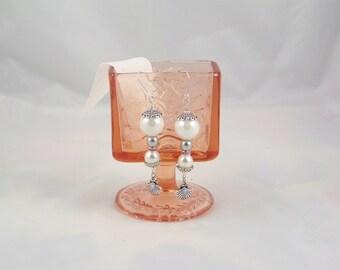 Sea Inspired Pearl & Shell Earrings