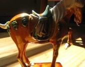 Regal Vintage Chinese Ceramic Horse Figurine, c. 1970's