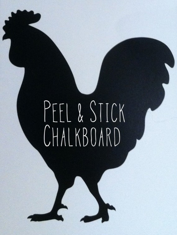 Chalkboard Peel and Stick Rooster Decal
