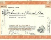 American Brands, Inc. , Vintage Scripophily, Stock Market Certificate