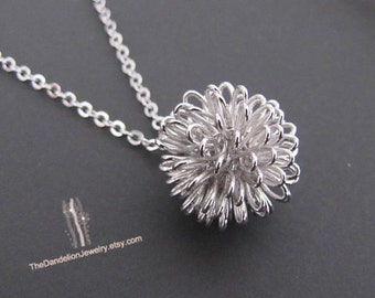 Dandelion Pendant Necklace, Jewelry, Gift, SALE 10% OFF