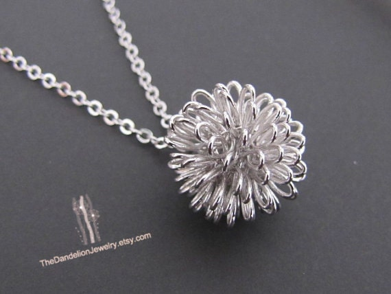 Dandelion necklace pendant necklace jewelry gift