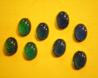8 Vintage Lucite 14x10mm Real Working 60s Moodstones