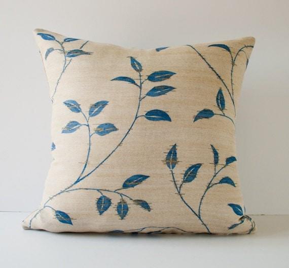Blue throw pillow cover modern pillow decorative pillow