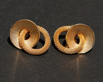 Kramer Gold Tone Vintage Earrings