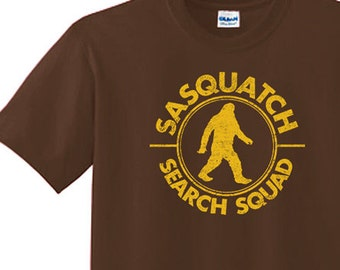 BIGFOOT TSHIRT  FunnyT-Shirt  funny shirt cool t shirt sasquatch cryptozoology (also available on crewneck sweatshirts and hoodies) SM-5XL