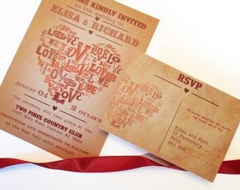 Barn Wedding Invitations - Country Barn wedding invitation sample - {El paso design}