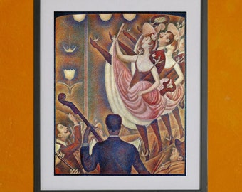 Le Chahut by Georges Seurat, 1890 - 8.5x11 Poster Print - also available in 13x19 - see listing details
