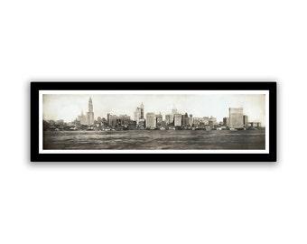 Vintage Photo New York Skyline on 16.5x5.25 PopMount Ready to Hang FREE SHIPPING
